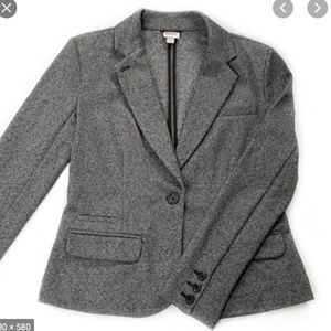 Merona soft gray knit blazer